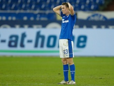 Matthew Hoppe reacts after Schalke conceded a last-gasp goal .AFP