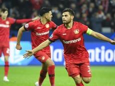 Leverkusen keep their hopes alive. AFP