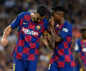 Ansu Fati has been ruled out for the Alaves clash. AFP