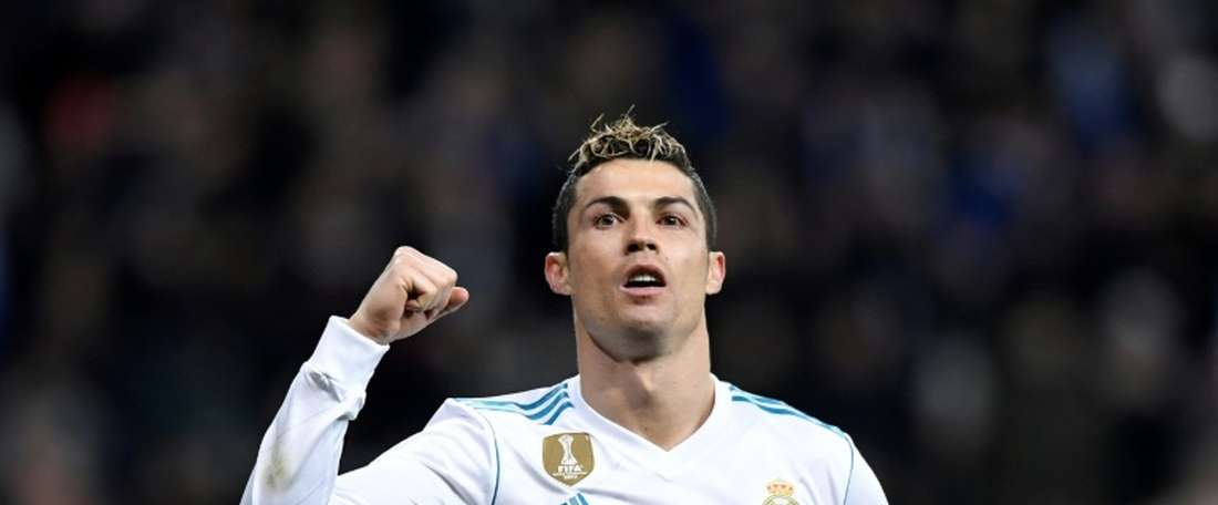 Ronaldo scored a hat-trick as Real cruised to victory over Sociedad. AFP