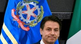 Conte commenta il rinvio delle giornate di Serie A. AFP
