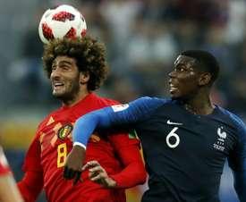 Bélgica adelantó a Francia por un punto. AFP