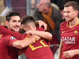 Dzeko's last minute winner saved Roma. AFP