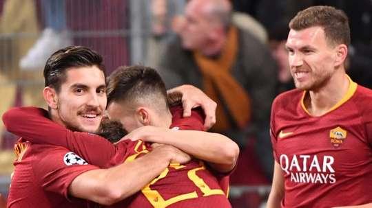 Dzeko's last minute winner saved Roma. AFP