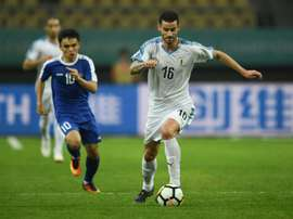 Pereiro gave Uruguay a 2-0 lead going into half-time. AFP
