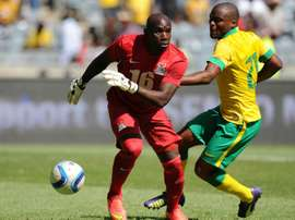 Zambia keeper Mweene nearly cost his nation an AFCON qualifier against Guinea-Bissau. AFP