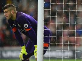 Forster apologised for his comical mistake that led to Crystal Palace's first goal. AFP