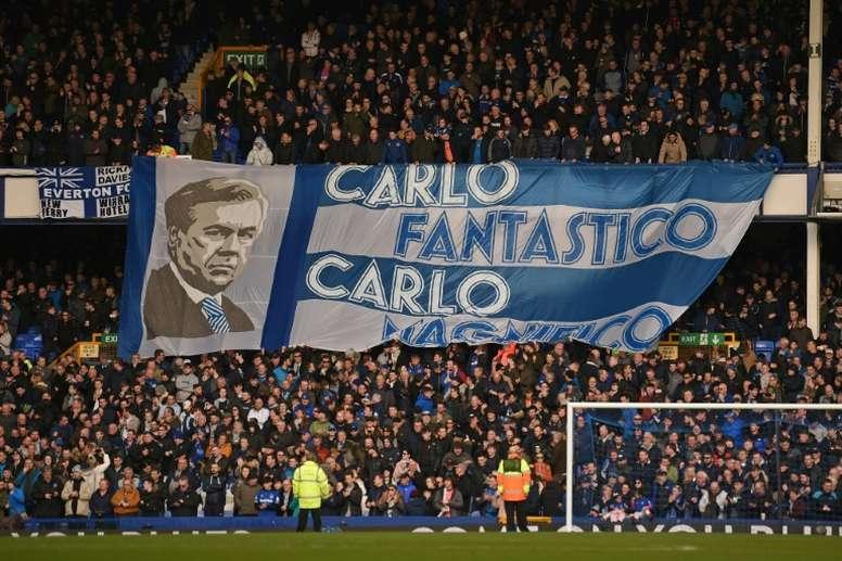 Ancelotti veut faire carrière à Everton. AFP