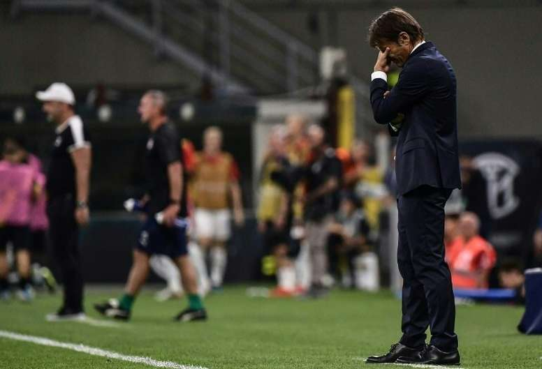 Conte's Inter shocked by 'ruthless' Slavia Prague