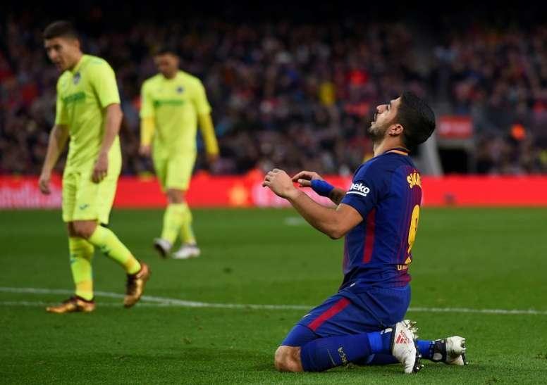 El Barcelona fue incapaz de marcar. AFP