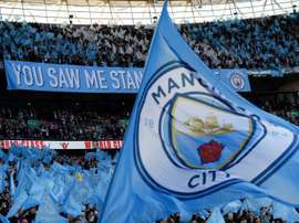 Manchester City could face a two-window transfer ban. AFP