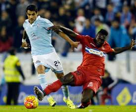 Augusto Fernandez (L) playing for Celta Vigo in December, before signing for Atletico Madrid