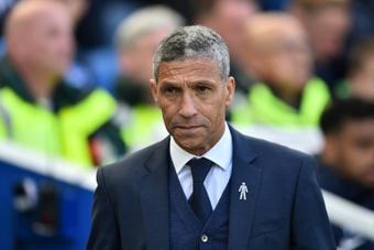Chris Hughton ha sido cesado como entrenador del Nottingham Forest. AFP/Archivo
