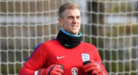 Hart could be in line for a shock move to Chelsea. AFP
