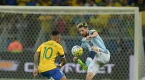 Brazil v Argentina is never a friendly. AFP