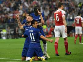 Giroud e Pedro nel mirino della Lazio. AFP