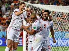 Túnez jugó sin portero suplente. AFP