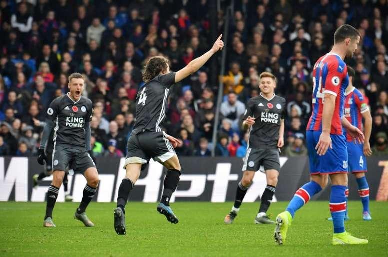 Leicester won 2-0. AFP