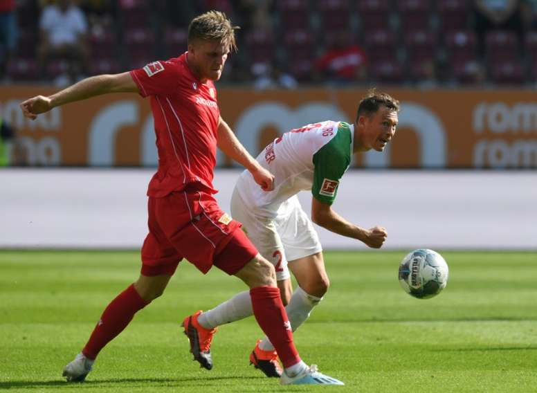 Union Berlin picked up their first Bundesliga point ever. AFP