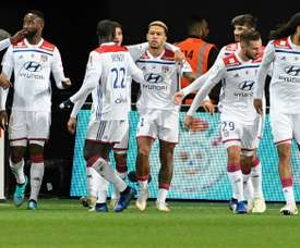 Memphis Depay carried Lyon to victory over Guingamp. AFP