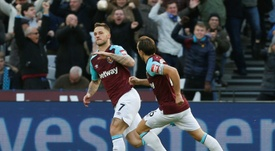 Arnautovic could be headed for Old Trafford in the summer. AFP