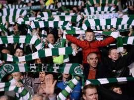 O Celtic venceu a liga, a Copa e a Copa da Liga. AFP