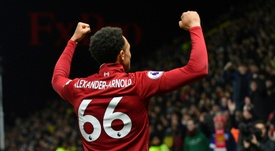 Liverpool defender Trent Alexander-Arnold faces a spell on the sidelines. AFP
