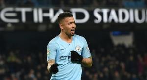 Jesus got four of City's nine goals on the night. AFP