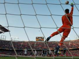 Sevilla keeper Vaclik in Europa League action. AFP