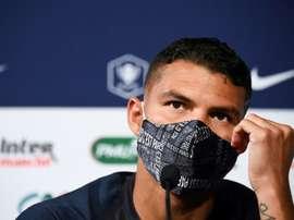 Thiago Silva ha parlato in conferenza. AFP