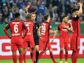 Fernandes was sent off after just 33 seconds on the pitch. AFP