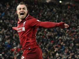 Sevilla are thinking of signing Shaqiri. AFP
