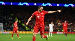 Bayern play down Lewandowski catching Mueller 40-goal mark. AFP