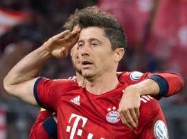 Lewandowski signs a new, 3 year deal with the club. AFP