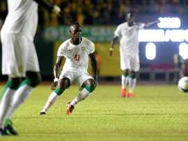 Mané es la gran estrella de Senegal. AFP