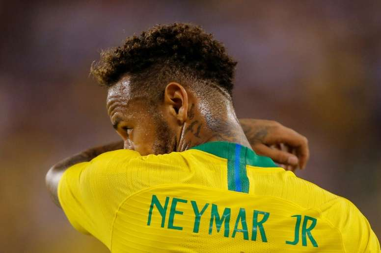 Neymar is to join his Brazil teammates earlier than planned. AFP