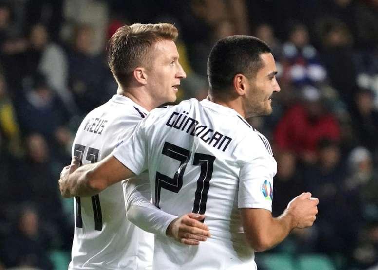 Alemania se llevó los tres puntos tirando de oficio. AFP