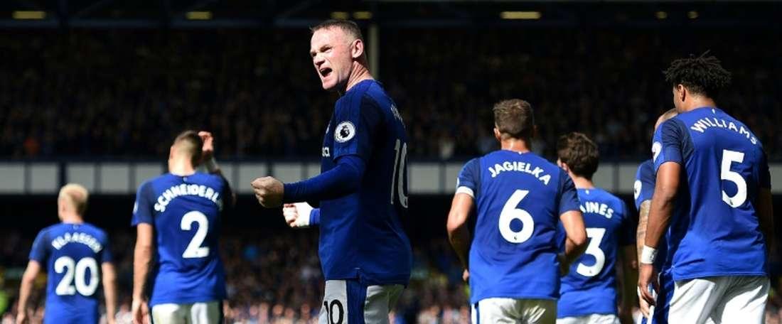 Everton segue em frente. AFP