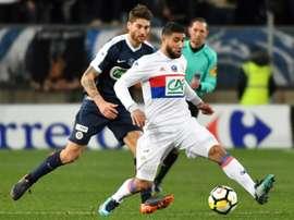 El Lyon ganó 1-2 al Montpellier. AFP