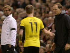 Jurgen Klopp (L) thinks Thomas Tuchel has a great squad to work with at Chelsea. AFP