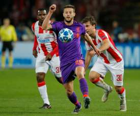 Lallana could be moving to Leicester City. AFP