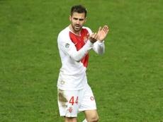 Cesc Fabregas in an AS Monaco shirt. AFP