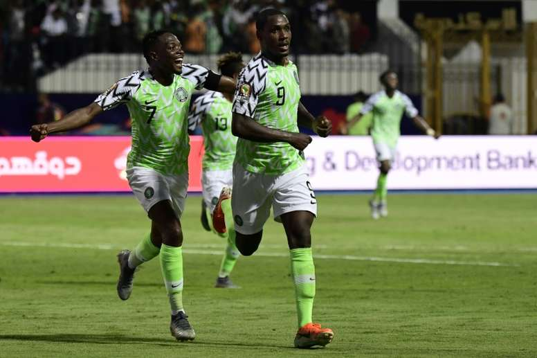 Ighalo was on fire as Nigeria beat Cameroon. AFP