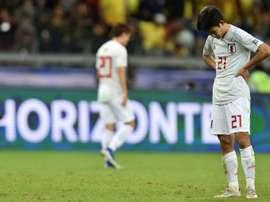 Kubo se vistió de Messi: fue un líder sin equipo. AFP