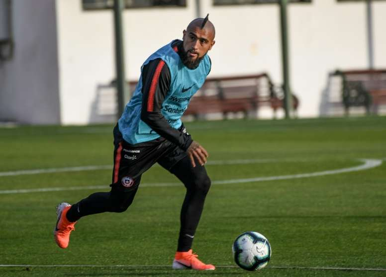Vidal believes in Chile's chances. AFP