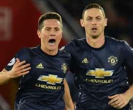 Herrera rescató un punto para el United. AFP