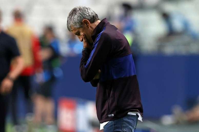 O tweet do Barça que pode dizer muita coisa. AFP
