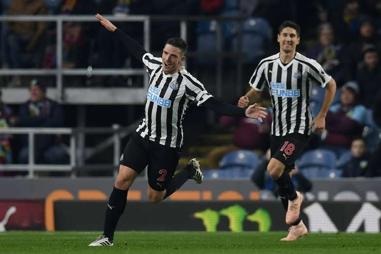 Ciaran Clark will hope to score for a second consecutive game. AFP