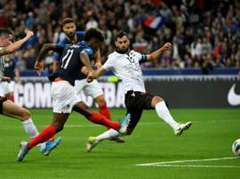 Kingsley Coman set France on the way to a comfortable victory. AFP