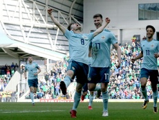 Smyth scored the winner on his Northern Ireland debut. AFP